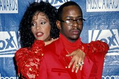 On the red carpet at the 1993 Billboard Music Awards, Whitney Houston and Bobby Brown showed that as man and wife, they've mastered the coordinating outfits routine. | 60 Memorable Moments From Past Billboard Music Awards