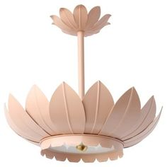 Check out this item at One Kings Lane! Leafy Semi Flush Mount, Blush
