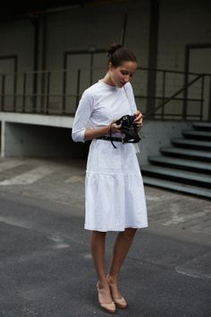 All white is chic for #NYFW