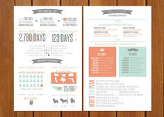 12 Clever Ceremony Program Ideas: fun infographic