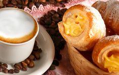 Wallpaper tubes, cream, coffee, foam, aroma, coffee beans, tubes, cream, coffee