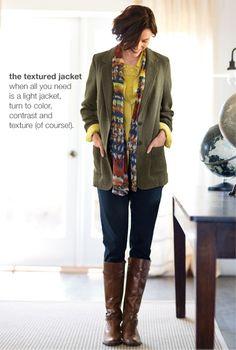 The textured jacket | www.jjill.com