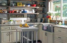 39 Great Farmhouse Kitchen Countertops Design Ideas And Decor - Home Design Ideas Farmhouse Kitchen Interior, Farmhouse Remodel, Kitchen Remodel, Cafe Interior, Interior Paint, Kitchen Design Open, Open Concept Kitchen, Open Kitchen, Kitchen Grey