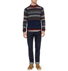 White MountaineeringPatterned Knitted-Wool Sweater
