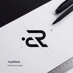 J + R, logo concept for Joy&Rest, Ukraine. Logo Branding, Typography Logo, Branding Design, Monogram Logo, Initials Logo, Logo Inspiration, Logo Construction, Dr Logo, Massage Logo