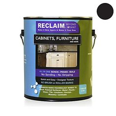 Reclaim Paint ONE GALLON. LICORICE, Cabinet or Furniture Restoration /Now You Can Relaim Almost Any Surface with This Combination Primer/finish/sealer Formula That Cures to a Durable, Washable Surface in Just One or Two Coats RECLAIM http://www.amazon.com/dp/B00CAYTQEK/ref=cm_sw_r_pi_dp_w3K9ub1HK6C4W
