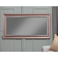 Willa Arlo Interiors Northcutt Modern and Contemporary Beveled Full Length Mirror Finish: Rose Gold Round Wall Mirror, Wall Mounted Mirror, Floor Mirror, Leaner Mirror, Traditional Mirrors, Rose Gold Mirror, Beveled Glass, Easy Wall, Modern Interior
