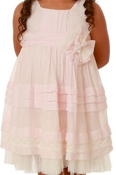 Isobella & Chloe Chamomile Kisses Soft Pink Toddler Dress