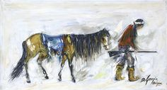 """DeGrazia's Apache Collection"" includes twenty-one oil paintings, five watercolors, and one ceramic sculpture, and spans four decades of the artist's career from the late 1940's to the late 1970's. The exhibit opens today at the Superstition Mountain Museum in Apache Junction, and will run through April of 2016. http://superstitionmountainmuseum.org/ted-de-grazias-superstition-collection/ #DeGrazia #Arizona #AZ #Desert #Apache #Superstition #Mountains #Museum #Paintings #Exhibitions…"