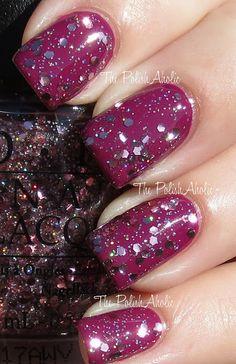 OPI 1 coat Pink Yet Lavender over Anti-Bleak