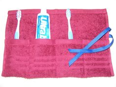 Favorite  Like this item?    Terrycloth Toothbrush and Paste Travel Pouch