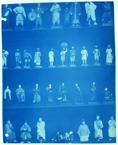 Thomas William Smillie was the first official photographer for the Smithsonian museum, from around 1890-1900. He documented museum activities and exhibits in cyanotypes. His photographs were mostly intended for use as reference but the simple compositions and the deep Prussian blue of the cyanotype, have a striking beauty beyond their original purpose.