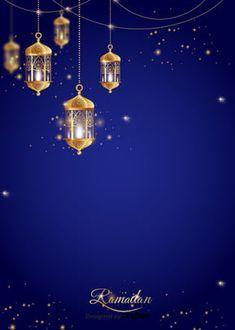 Blue Background Images, Flower Background Wallpaper, Flower Backgrounds, Gold Background, Eid Al Adha, Ramadan Decorations, Light Decorations, Image Ramadan, Blue Moon Light