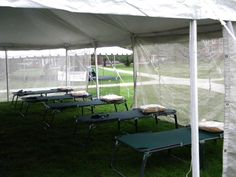 30x30 tent for injuries from the Clarence Demar Marathon Keene State