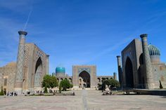 Registan - Samarkand - - List of World Heritage Sites in Northern and Central Asia Great Places, Places To See, Amazing Places, Wonderful Places, Amin Maalouf, Islamic Architecture, Central Asia, Heaven On Earth, World Heritage Sites