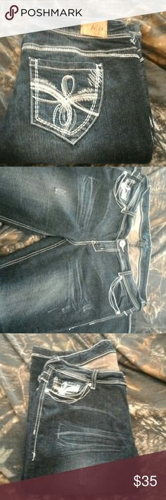 Never worn Ariya jeans Slightly distressed brains New jeans Ariya Jeans Boot Cut