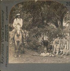 Ute Indian Family Colorado CO Keystone Stereoview c1900