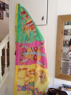 Aboriginal style silk flag