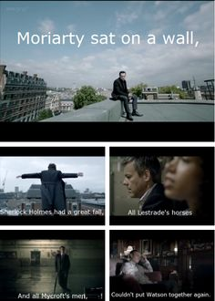 You know I had hoped that with series 3 now readily available Reichenbach wouldn't be as painful to watch as it has been these past 2 years. However all hope is lost. I just watched it and even knowing what happens in The Empty Hearse did not stop it from breaking my heart. Again.