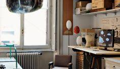 Achille Castiglioni Studio  http://mensoz.com/achille-castiglioni-mid-century-designer/