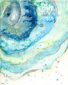 Watercolor & pencil over gesso. Watercolor Pencil Art, Watercolor Projects, Abstract Watercolor, Watercolor Illustration, Watercolor Paintings, Alcohol Ink Art, Whimsical Art, Map Art, Watercolours