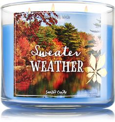 Sweater Weather 3-Wick Candle - Home Fragrance 1037181 - Bath & Body Works