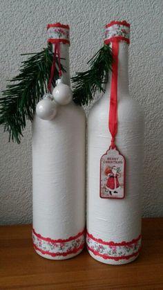 Kerstflessen. ...gesso