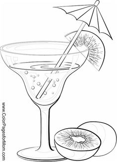 Wine Coloring Page 16