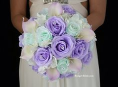 Lilac and mint bouquet