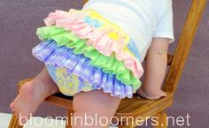 Pastel Ruffle Bloomer Ruffle Diaper Cover Pants by BloominBloomers, $25.00
