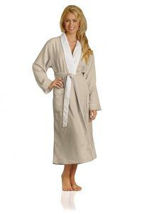Luxury Spa Robe - Microfiber with Cotton Terry Lining Seashell Small 791edf3a2