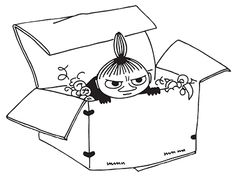 Little My in a box Moomin Valley, Tove Jansson, Cheer Up, Coloring Pages, Colouring, Light Art, Childrens Books, How To Draw Hands, Illustration Art