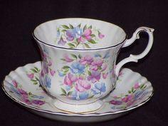 Royal Albert Bone China England Springtime Series Sweet Pea