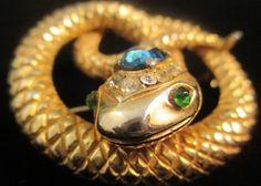 Rare Vintage Castlecliff Snake Serpent Figural Rhinesto : Lot 389