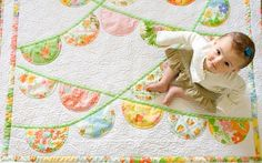 I'm not a big #quilt fan, but I <3 this cute lil banner quilt.  Can't see me sewing one, but ya never know!