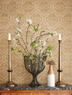 Beautiful Designs at Thibaut and Anna French - Classic Casual Home French Rustic Decor, French Bedroom Decor, Anna French, French Classic, Wallpaper Stencil, Wall Wallpaper, Home Upgrades, Colorful Wallpaper, Inspiration
