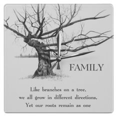"May get this quote ""Like branches on a tree, we all grow in different directions. Yet our roots remain as one"" I already have the beginning of a cherry blossom tree that was done by my dad when I was 16. First tat talk about roots."