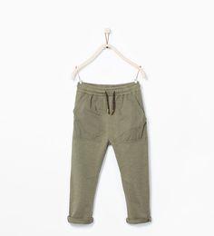 ZARA - KIDS - Sweatpants with contrast pockets