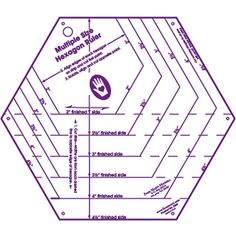 Free 2-day shipping. Buy Marti Michell My Favorite Hexagon Ruler at Walmart.com Quilting Templates, Quilting Tools, Quilting Rulers, Quilting Tutorials, Quilting Designs, Quilt Patterns, Hexagon Quilting, Patchwork Patterns, Needlework Shops