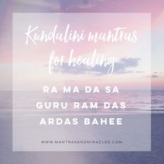 My three favorite healing Kundalini Yoga mantras that anyone can use.