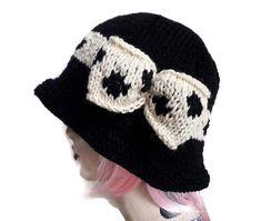 Flapper Hat Polka Dot Cloche Hat Peaky Blinders Hand Knitted Gatsby Charleston by thekittensmittensuk on Etsy Dot Band, Flapper Hat, Animal Hats, Cloche Hats, Slouchy Hat, Knit Hats, Peaky Blinders, Gatsby, Hats For Women