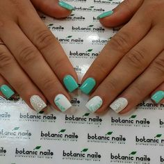 Mint, white, and silver