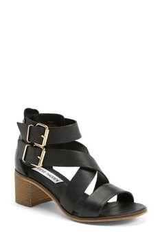 'Rosana' Double Ankle Strap Leather Sandal