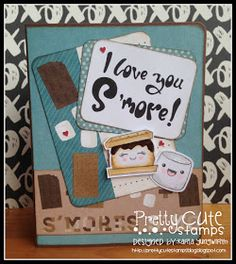 Creative Love Affair: Pretty Cute Stamps - May 2016 New Release Digital Stamp Blog Hop! Using S'mores digi stamps! Love these cute marshmallows