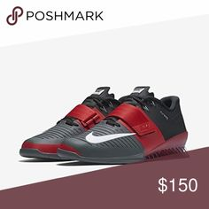 a432853dc058 New Nike Romaleos 3 Weightlifting Sizes 10 11 Nike Mens Shoes Romaleos 3 Weightlifting  Red Dark