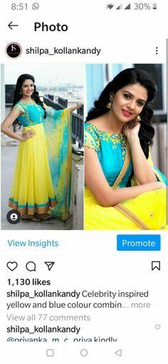 Inspirational Celebrities, Photo B, Bollywood Fashion, Yellow, Blue, Insight, Sari, Color, Saree