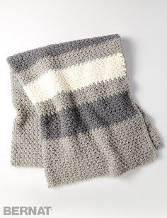 Yarnspirations.com - Bernat Hibernate Blanket - Patterns  | Yarnspirations