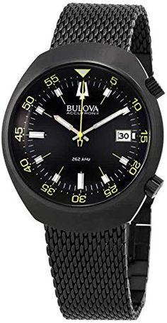 7cdbc8549 Chic Bulova Men's 98B247 Accutron II Analog Japanese Quartz Black Watch Mens  Watches. [$299