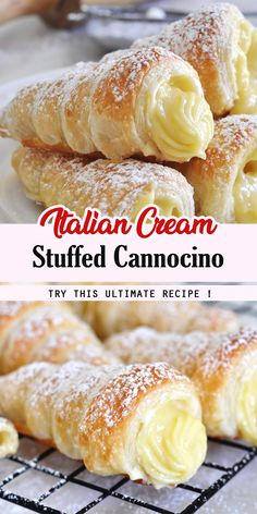 INGREDIENTS: YIELD: 12 cannoncini For the custard cream (crema pasticcera): 3 egg yolks 3 tablespoons gr) of flour cup Oreo Desserts, Easy Desserts, Delicious Desserts, Healthy Desserts, Yummy Food, Baking Recipes, Cookie Recipes, Italian Pastries, French Pastries