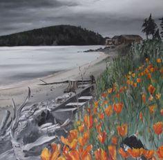 Hope Island Inn In Skagit Bay Island Inn Wine Art Art Painting